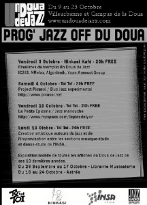 Flyer un doua de jazz